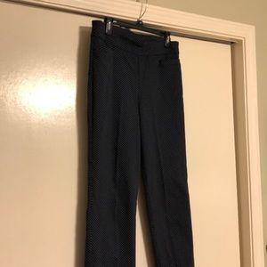 Navy Polka dot stretch pull on pants